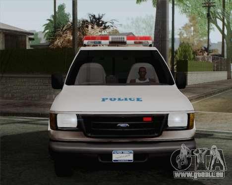 Ford F150 Police für GTA San Andreas zurück linke Ansicht