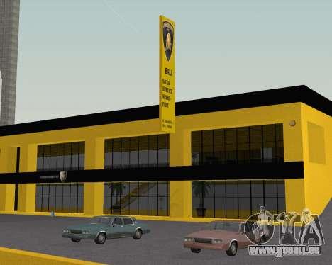 Lamborghini Dealer San Fierro pour GTA San Andreas