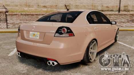 Pontiac G8 GXP [VE] 2009 für GTA 4 hinten links Ansicht