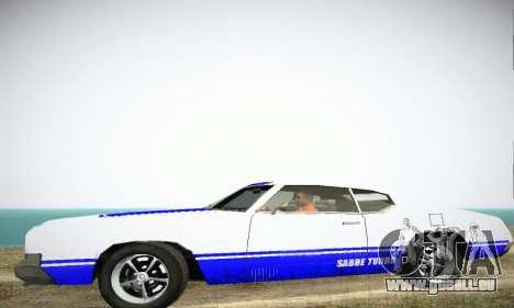 GTA IV Sabre Turbo pour GTA San Andreas sur la vue arrière gauche