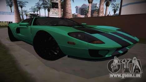 Ford GT TT Ultimate Edition für GTA San Andreas zurück linke Ansicht