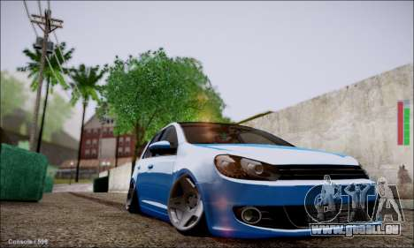Volkswagen mk6 Stance Work für GTA San Andreas linke Ansicht