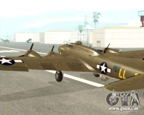 B-17G für GTA San Andreas Innenansicht