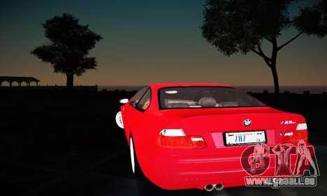BMW E46 M3 CSL pour GTA San Andreas vue de droite