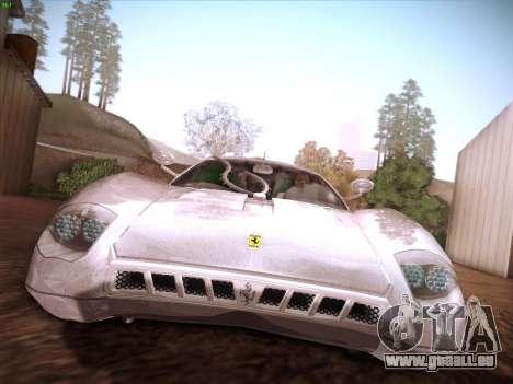 Ferrari P7 Chromo für GTA San Andreas Unteransicht