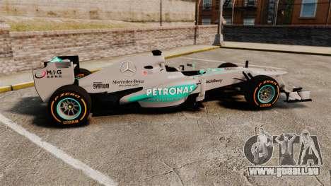 Mercedes AMG F1 W04 v3 pour GTA 4 est une gauche