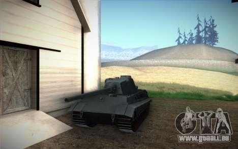 E-75 Tiger III für GTA San Andreas zurück linke Ansicht