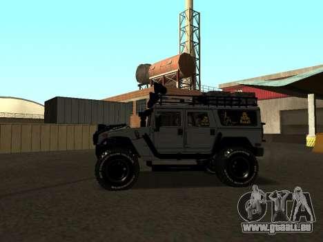 Hummer H1 Offroad pour GTA San Andreas laissé vue