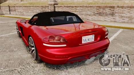 Dodge Viper SRT-10 2003 pour GTA 4 Vue arrière de la gauche