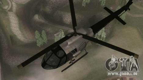 Police Maverick from GTA V für GTA San Andreas rechten Ansicht