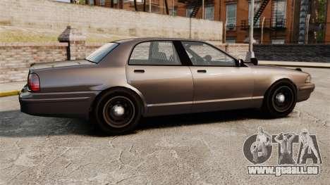 GTA V Unmarked Cruiser Police für GTA 4 linke Ansicht