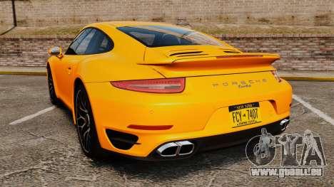 Porsche 911 Turbo 2014 [EPM] pour GTA 4 Vue arrière de la gauche