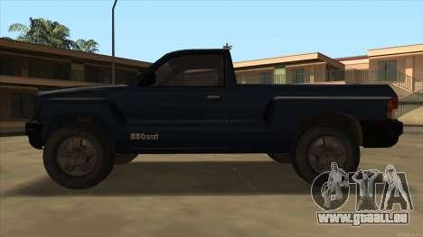 Bobcat HD from GTA 3 pour GTA San Andreas sur la vue arrière gauche