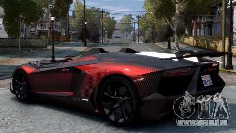 Lamborghini Aventador J 2012 Carbon pour GTA 4 est un droit