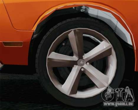 Dodge Challenger SRT-8 2010 pour GTA San Andreas laissé vue