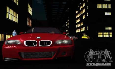 BMW E46 M3 CSL pour GTA San Andreas laissé vue