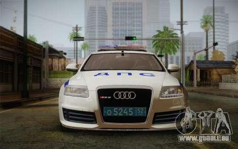 Audi RS6 Police für GTA San Andreas zurück linke Ansicht