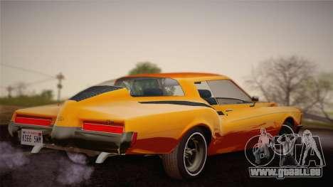 Buick Riviera 1972 Carbine Version pour GTA San Andreas laissé vue