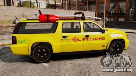 GTA V Declasse Granger 3500LX Lifeguard für GTA 4 linke Ansicht