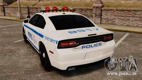 Dodge Charger 2012 NYPD [ELS] pour GTA 4 Vue arrière de la gauche