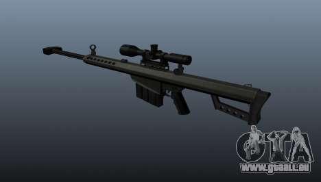 Barrett M82A1 fusil de sniper pour GTA 4 secondes d'écran