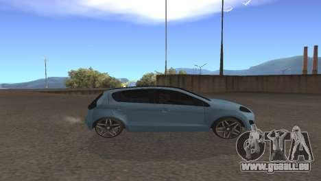 Fiat Palio 2014 pour GTA San Andreas sur la vue arrière gauche