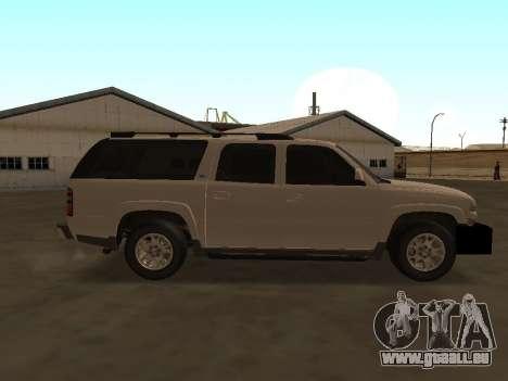 Chevrolet Suburban ATTF pour GTA San Andreas vue arrière