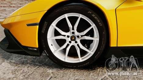 Lamborghini Aventador LP720-4 50th Anniversario pour GTA 4 Vue arrière