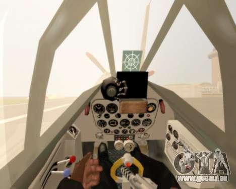 MIG-3 für GTA San Andreas Rückansicht