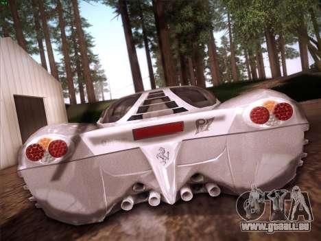Ferrari P7 Chromo pour GTA San Andreas vue de dessus