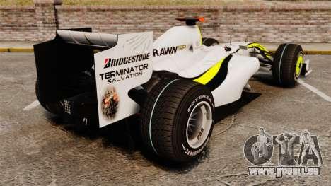 Brawn BGP 001 2009 für GTA 4 hinten links Ansicht
