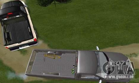 Dodge Ram 2500 pour GTA San Andreas vue intérieure