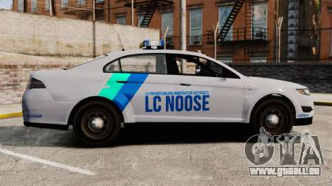 GTA V Vapid Police Stanier Interceptor [ELS] pour GTA 4 est une gauche