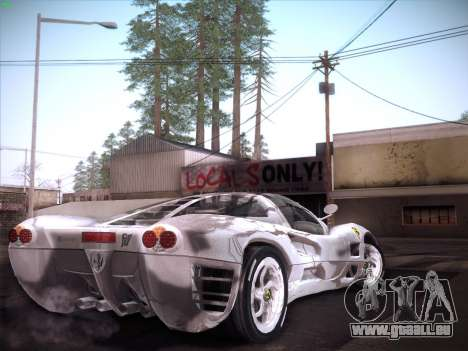 Ferrari P7 Chromo pour GTA San Andreas laissé vue