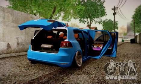 Volkswagen mk6 Stance Work pour GTA San Andreas vue de droite