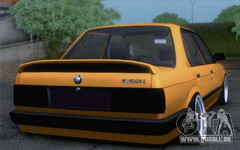 BMW E30 325i pour GTA San Andreas laissé vue