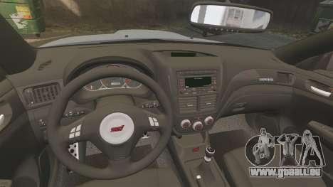 Subaru Impreza Cosworth STI CS400 2010 pour GTA 4 est une vue de l'intérieur