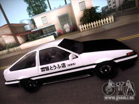 Toyota Trueno AE86 Initial D 4th Stage pour GTA San Andreas vue intérieure