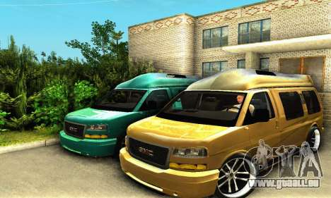 GMC Savana pour GTA San Andreas vue intérieure