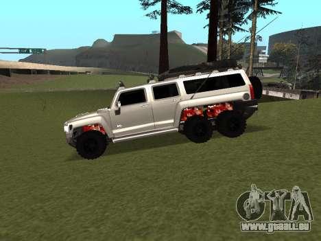 Hummer H3 6x6 pour GTA San Andreas laissé vue