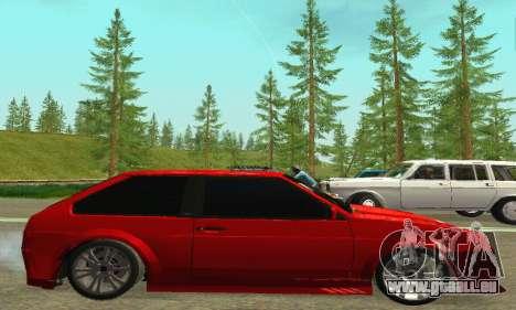 VAZ 2108 TAMR Style pour GTA San Andreas sur la vue arrière gauche