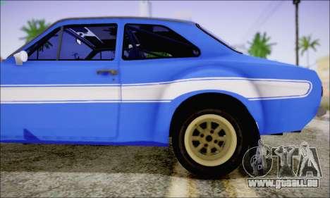 Ford Escort Mk1 RS1600 pour GTA San Andreas vue arrière