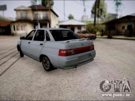 VAZ 2110 restylage pour GTA San Andreas sur la vue arrière gauche