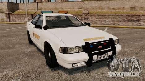 GTA V Police Vapid Cruiser Sheriff für GTA 4