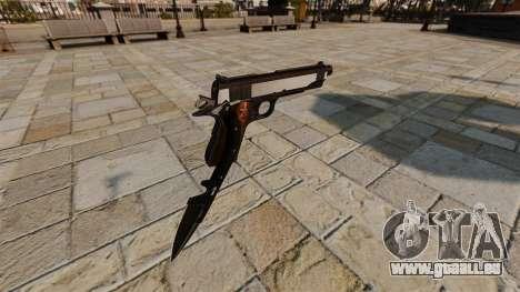Colt 1911 pistolet couteau pour GTA 4 secondes d'écran
