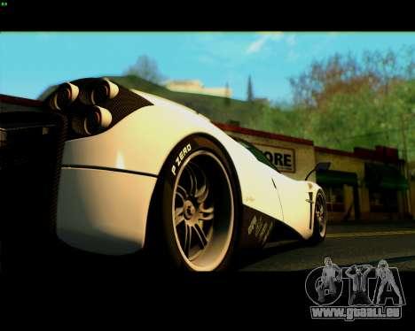 Pagani Huayra 2013 für GTA San Andreas rechten Ansicht