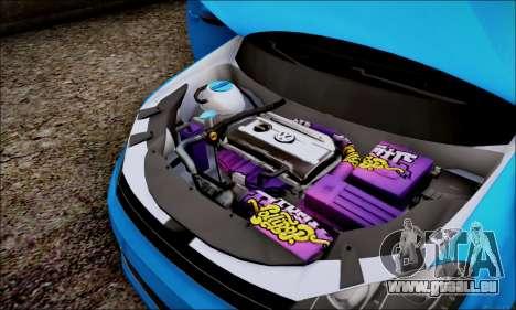 Volkswagen mk6 Stance Work pour GTA San Andreas vue arrière