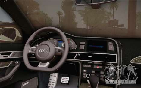 Audi RS6 Police pour GTA San Andreas vue de droite