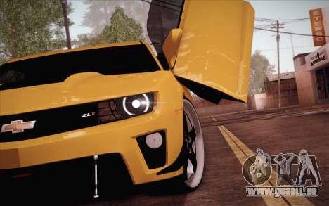 Chevrolet Camaro ZL1 pour GTA San Andreas sur la vue arrière gauche