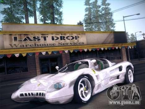 Ferrari P7 Chromo pour GTA San Andreas sur la vue arrière gauche